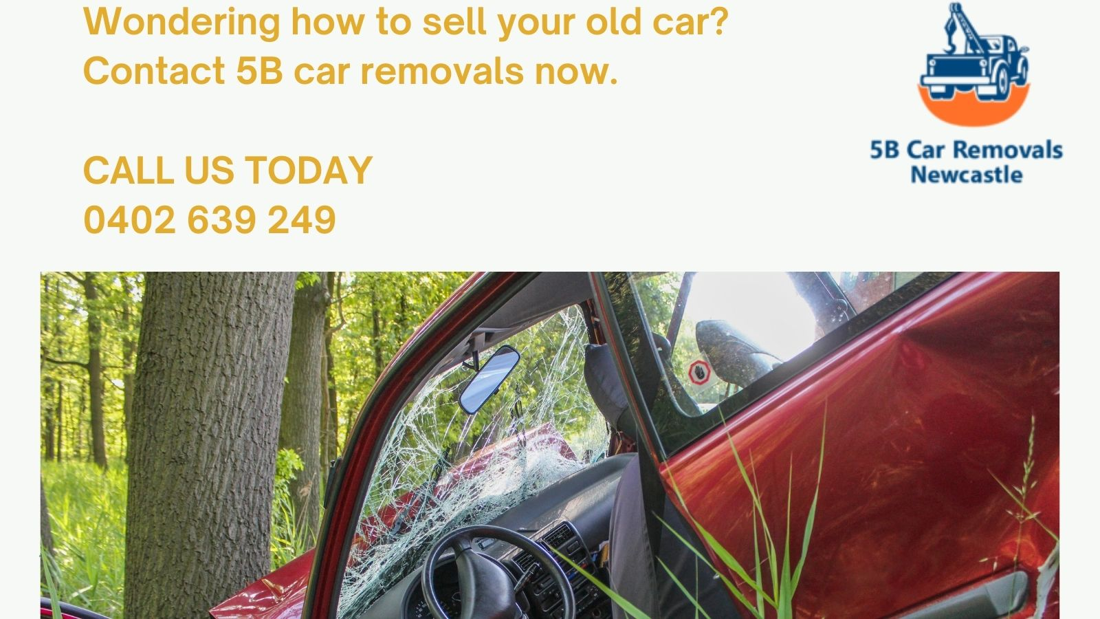 If you have old Car for scrap in Cardiff then call 5B car removals now.
